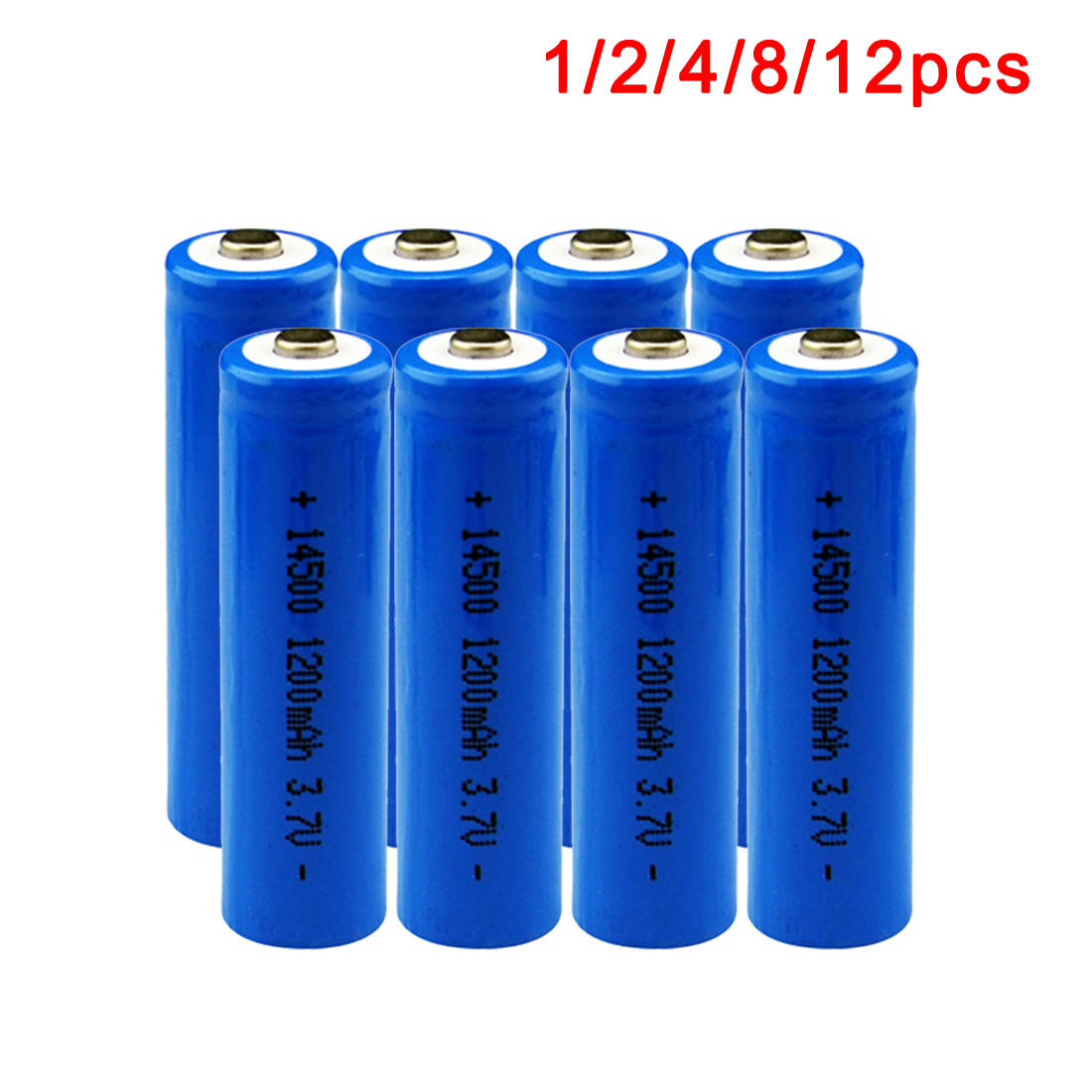 Centechia 1/2 /4/8/12pcs/set Capacitance 14500 Battery 3.7V 1300mAh Rechargeable Battery for Led Flashlight Batery Battery est ...