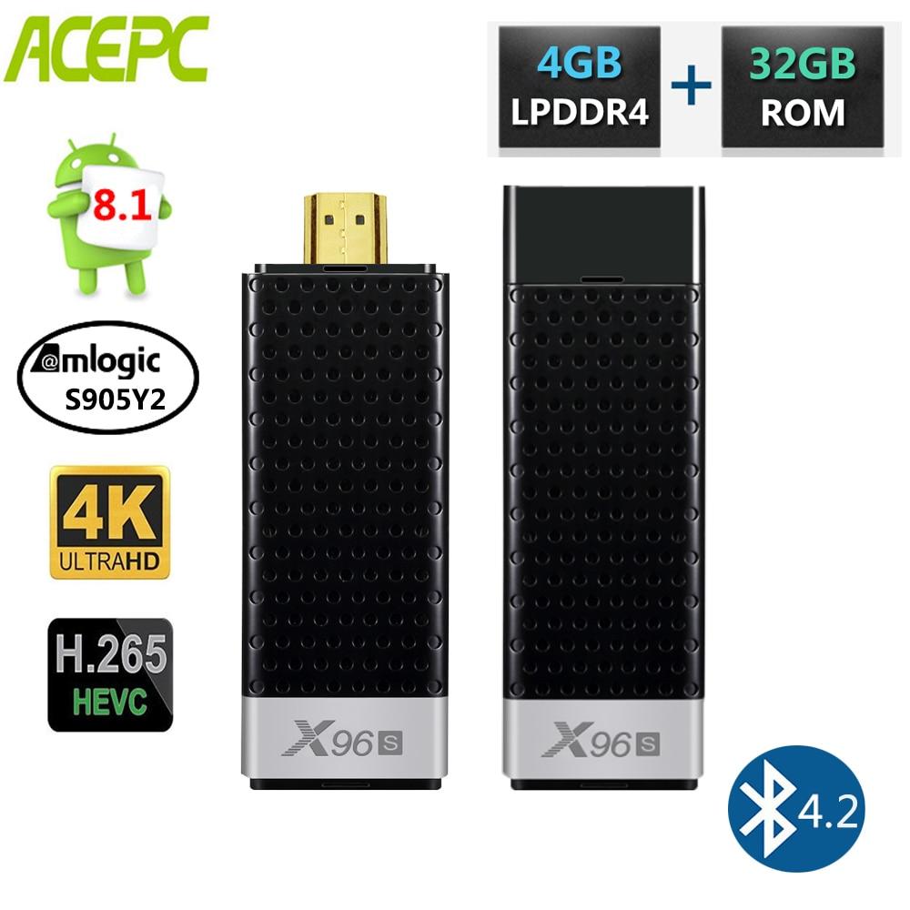 Mini PC X96S TV Stick Android 8.1 Smart TV Box Amlogic S905Y2 DDR4 4GB RAM 32GB ROM 5GBluetooth 4.2 4K HD WiFi PK H96Mini PC X96S TV Stick Android 8.1 Smart TV Box Amlogic S905Y2 DDR4 4GB RAM 32GB ROM 5GBluetooth 4.2 4K HD WiFi PK H96