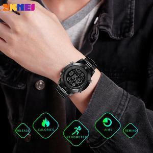 Image 5 - SKMEI montre connectée avec podomètre, calories, horloge dactivité physique, numérique, moniteur de fréquence cardiaque et de sommeil, Bluetooth montre pour hommes