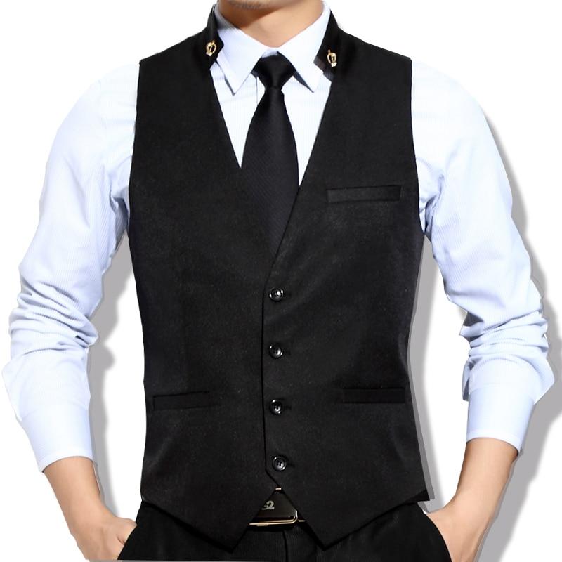Chaleco de vestir para hombre-Excelente calce, calidad y confección-Confeccionado en tela tropical con tafeta en la parte posterior-Botón atrás para ajustar.