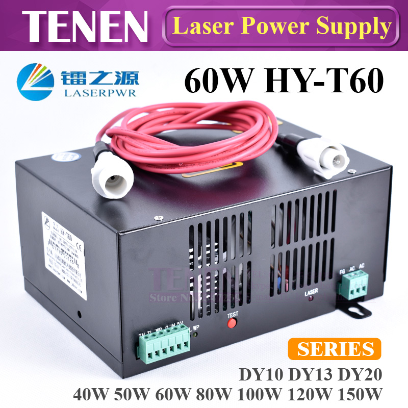 Factory Wholesales T60 60w Laser Power Supply For 1200mm Laser Glass Tube Hair Extensions & Wigs