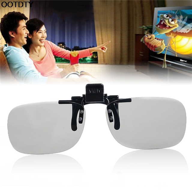 747aa4c1b7091e 1X Clip Op 3D Bril Circulair Gepolariseerde Eye Lens Thuis TV Cinema Movie  Film Imax