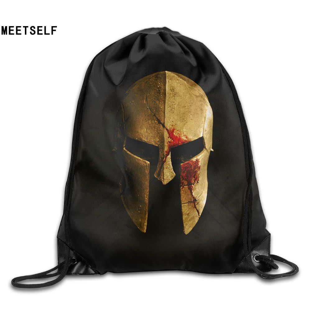 Samcustom Spartan 3d Print Shoulders Bag Fabric Backpack Men And Women Port Drawstring Travel Shoes Dust Storage Bags