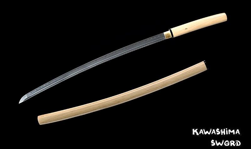 Japanese Shirasaya Full Tang Handmade Katana T10 Steel Clay Tempered Natural Wood-Dis/Assembled By Bare-handed-New Arrival