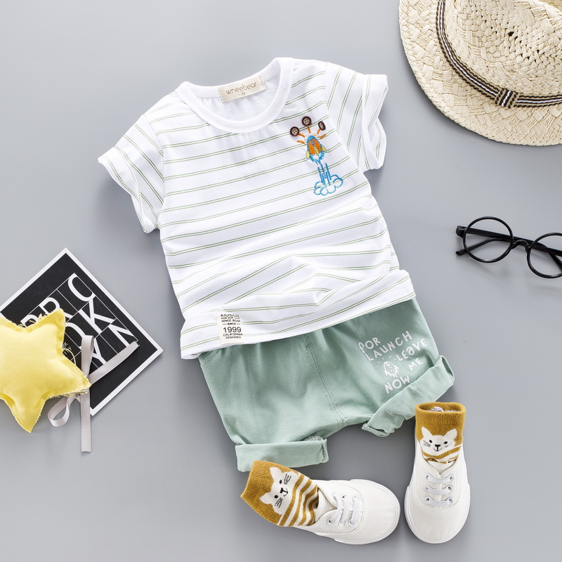 c30f4f6fc Conjuntos de ropa de rayas de algodón para bebé niño niña verano 2019 nuevo  estilo ropa para ...