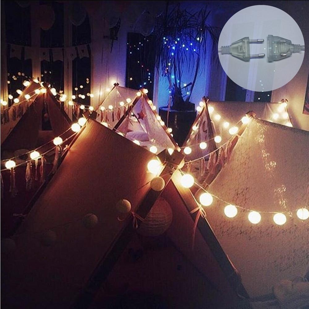 Vikerkaarevärv puuvillane palli stringi valgus jõulupühade - Puhkusevalgustus - Foto 4
