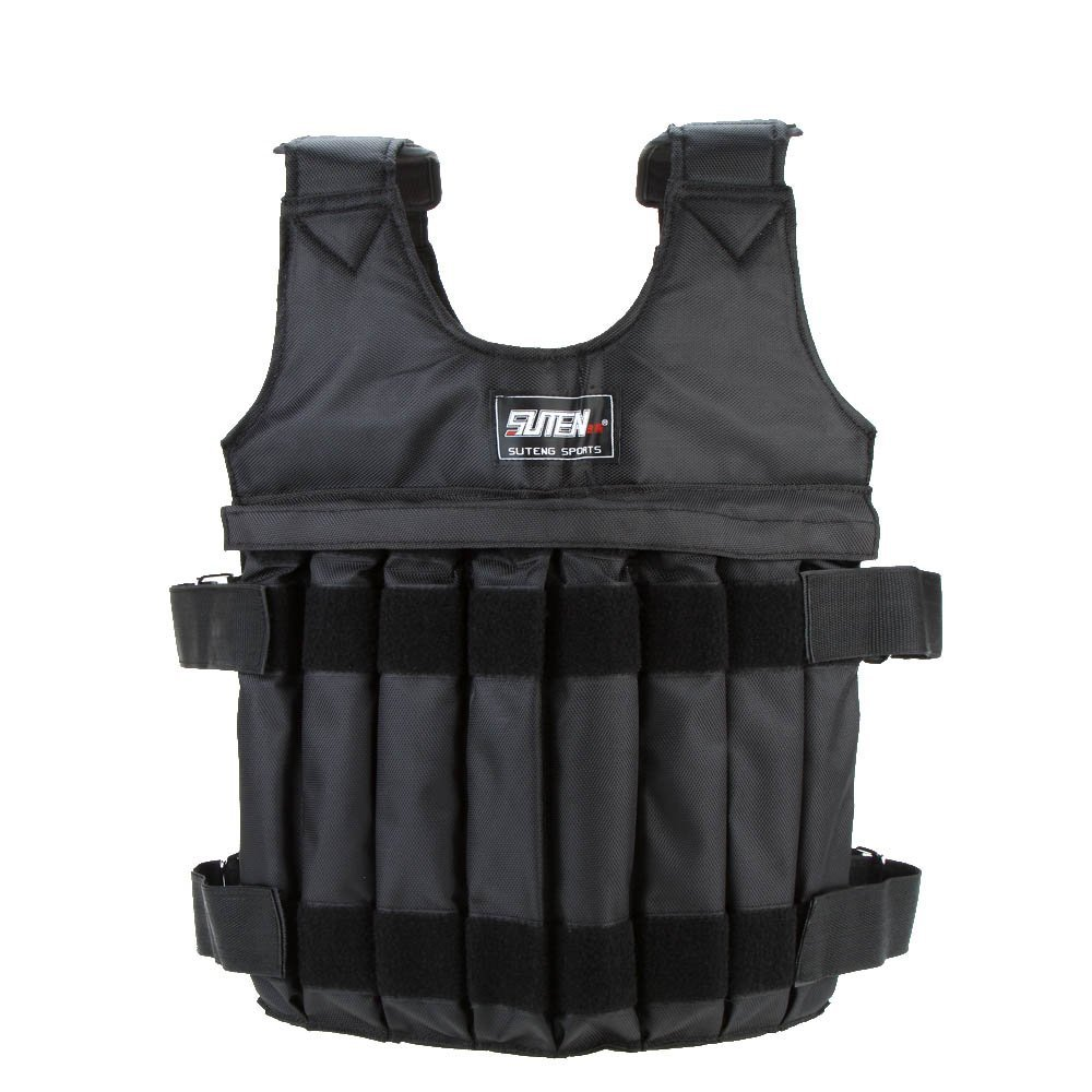 SUTEN Max 20 kg of load weight adjustable Weighted Vest jacket vest exercise boxing training Invisible Weightloading sand clot adjustable weighted vest ultra thin breathable workout exercise carrier vest for training fitness weight bearing equipment page 4