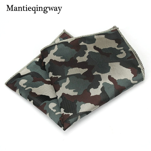 842ade034e74 Mantieqingway Polyamide Yarns Handkerchiefs Men's Pocket Square Wedding  Business Chest Towel Formal Wear Camouflage Hankies