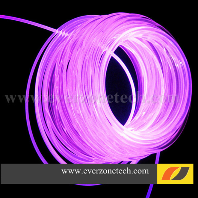 5mm sideglow fiber optic lighting led light cable for interior