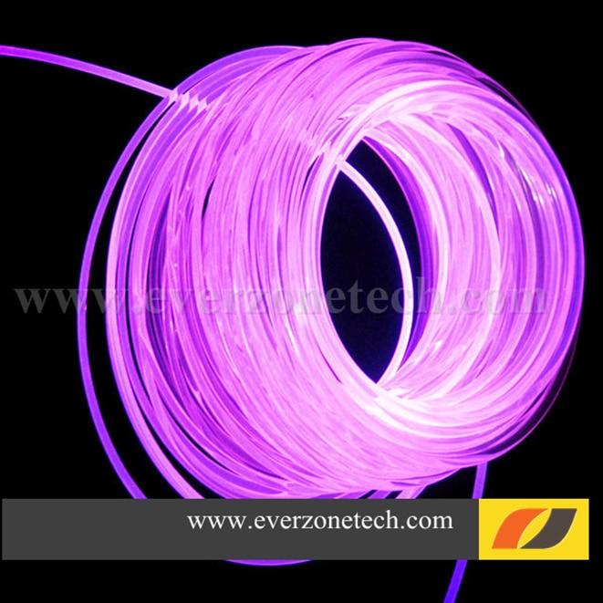 5mm Sideglow Fiber Optic Lighting LED Light Cable for Interior Decoration