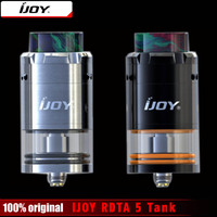 Original IJOY RDTA 5 Tank 4ML Capacity With Resin Drip Tip Single Coil Atomizer Vaporizer For