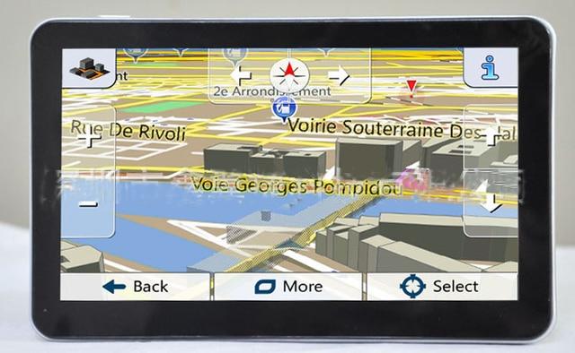 Good Quality Mtk  Inch Portable Car Gps Navigator Russaukraineunited States