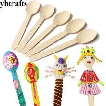 5 шт./партия. деревянная ложка Искусство и ремесла. для раннего развития игрушки для детского сада материалы для рукоделия набор игрушек для рисования классиков
