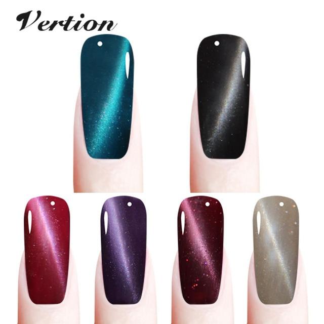 Verntion 3D Cat Eyes Nail Gel Polish magnetic nail polish Brand LEd ...