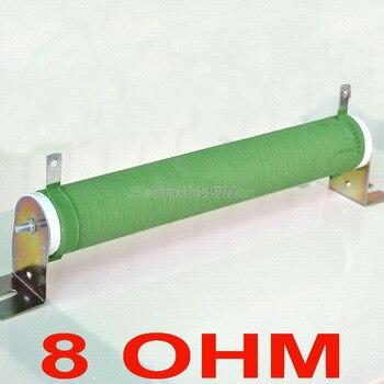 8 Ом 300 Вт неиндуктивный проволочный покрытием Керамика трубы резистора, аудио Усилители домашние эквивалент нагрузки, 300 Вт.