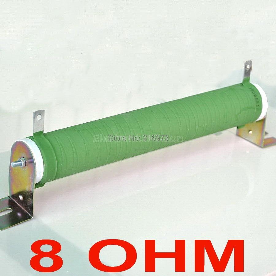 8 ohms 300 Watts résistance de Tube en céramique enduit de fil Non inductif, charge factice d'amplificateur Audio, 300 W.