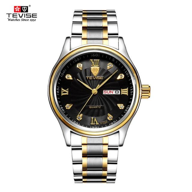 8e62e28f64f Dia da Semana Data Homens Relógio TEVISE Luxo 2018 À Prova D  Água Moda  Quartzo