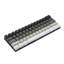 YMDK beyaz gri siyah karışık 87 _ _ _ _ _ _ _ _ _ _ _ _ _ _ _ _ _ _ _ _ anahtar yan baskı boş Keyset kalın PBT OEM profil Keycaps MX TKL mekanik klavye