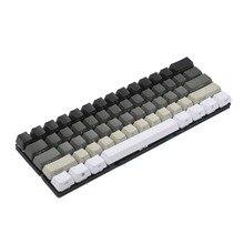 YMDK teclas de dibujo lateral en blanco, gris, negro, mezcla de 87 y 61 teclas, teclas gruesas de perfil PBT OEM para teclado mecánico MX TKL