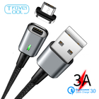 Travelcool USB Magnetic Micro Charger USB Cable QC 3.0 Fast Charging 3A Magnet Charger USB Micro Cable Charger 1M Fast Charging