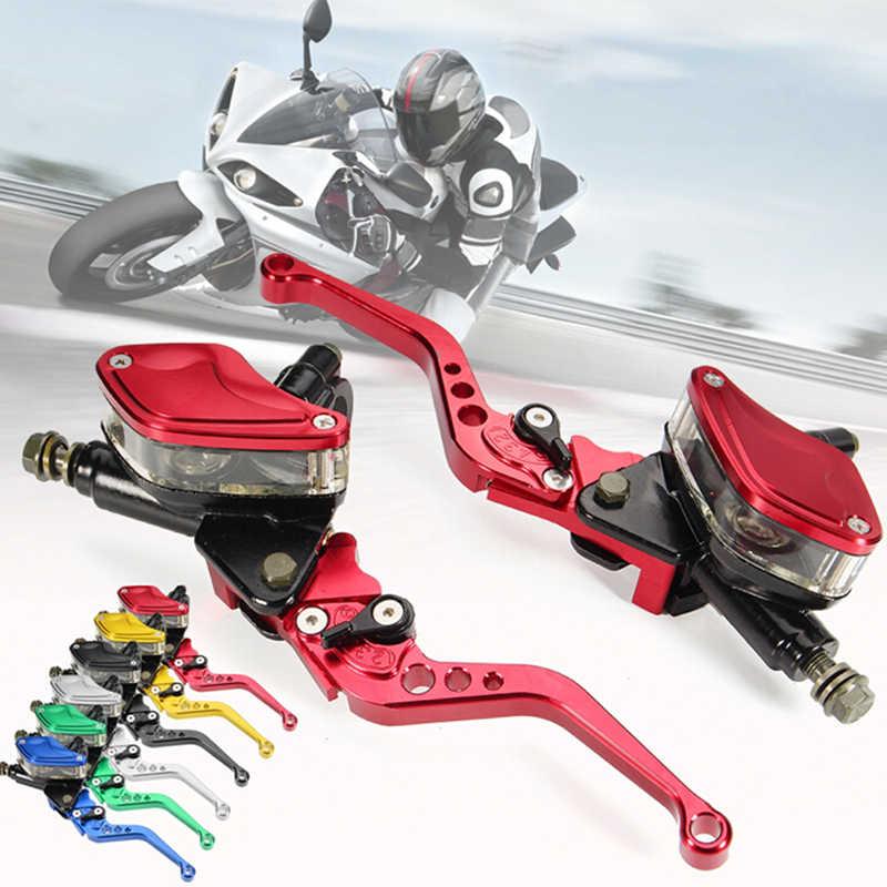 Levier de réservoir de maître-cylindre d'embrayage de frein hydraulique de moto universel 1 paire pour guidon de 7/8 pouces