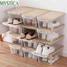 2019 Baru 3 Pcs Rumah Penyimpanan Kotak Sepatu Plastik Wadah Kotak Persegi  Panjang PP Tebal Pria 8326a511ca