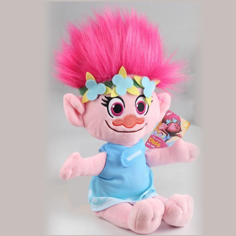 New movie Trolls character plush toys Good Luck Trolls Bobbi Princess Bran Magic fairy hair Wizard Blanche character plush toys
