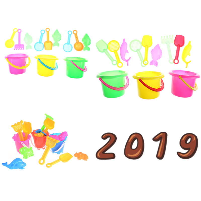Random Color 4/6Pcs Kids Sand Beach Toys Castle Bucket Spade Shovel Rake Water Tools Set For Kids Toys Good Gift To Kids