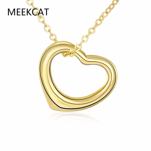 Meekcat gold color love heart necklace pendants wholesale nickle meekcat gold color love heart necklace pendants wholesale nickle free antiallergic new high fashion jewelry mozeypictures Images