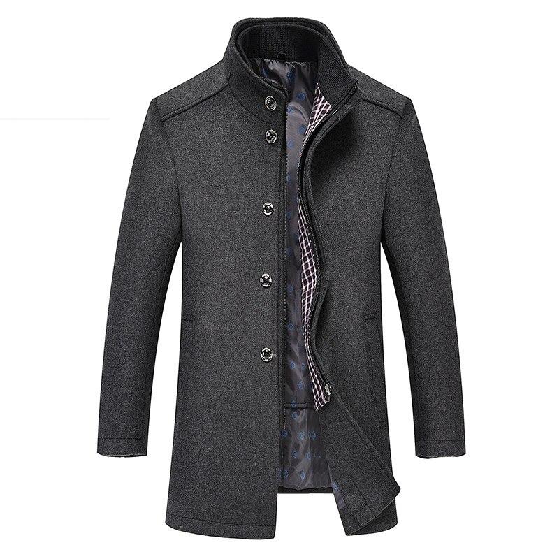 Pea Coat 4xl-Jackets Business Men's Winter Plus-Size Casual Outerwear XXXL Wool 2-In-1
