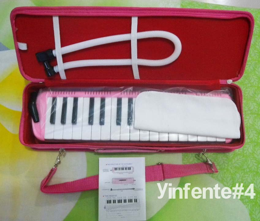 New Swan 32KEY MELODICA Fine Case Nice Tone~ Pink new swan 32key melodica fine case nice tone yellow