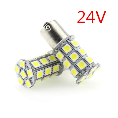 1PC LED Car 1156 Ba15s P21W 27SMD 5050 Truck lights 24V Brake Bulb Backup Turn Signal parking lamp Tail Light White car styling hngchoige 1156 ba15s p21w 13 led 5050 smd car tail brake signal light lamp bulb white