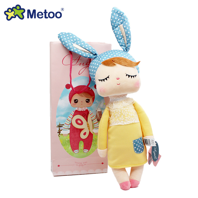 Genuine Metoo Angela plush dolls baby toy for children girl kids toys gift Lace Bunny Rabbit stuffed & plush animals with box