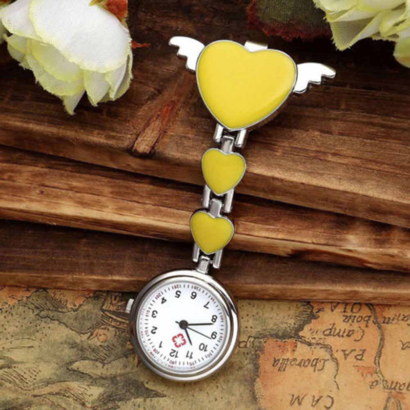 Nurse Pocket Watches Round Dial Quartz Angel Band Brooch Doctor Hanging Watches LL@17