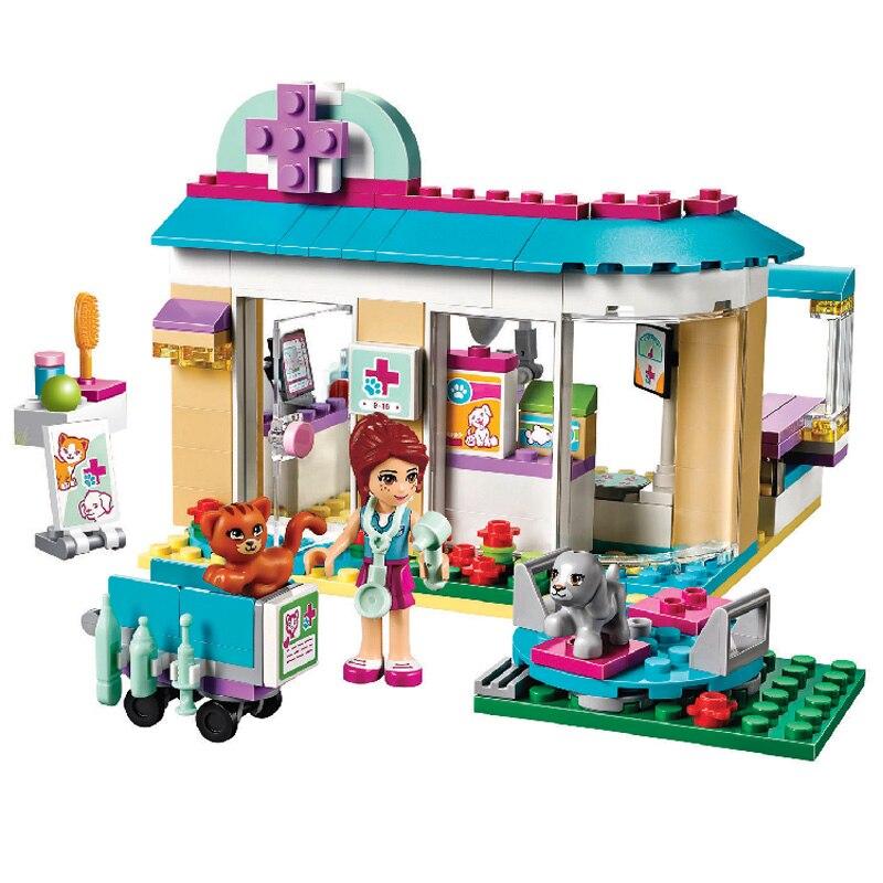 Bela 10537 Freunde Tierarzt Klinik Bausteine Set Spielzeug für Mädchen Kompatibel LegoINGly Freunde 41085 Pet Krankenhaus
