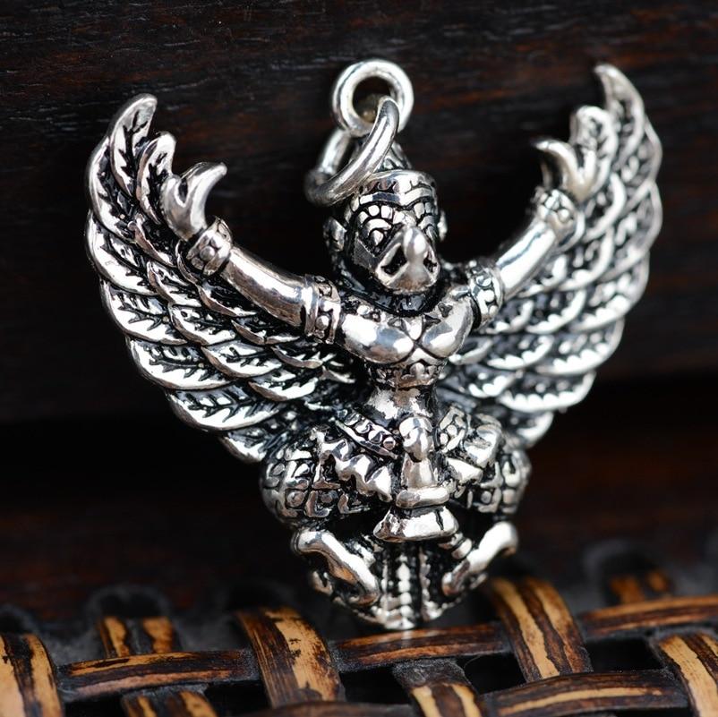 S925 sterling silver wholesale silver antique style Buddhist patron evil PendantS925 sterling silver wholesale silver antique style Buddhist patron evil Pendant