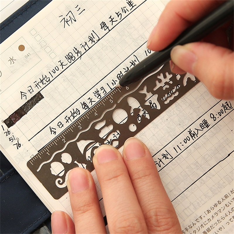 Cute Kawaii Creative Horse Birdcage Hollow Metal Bookmark Ruler For Kids Student Gift School Supplies #2