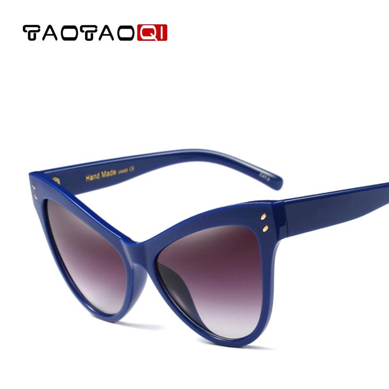 ef6a43a0cd3 TAOTAOQI Brand Women Designer Cat Eyes Sunglasses Women Good Quality Large  Frame Female Vintage Sun Glasses oculos de sol UV400-in Sunglasses from  Women s ...