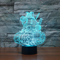 Magical Creative 3D Illusion Lamp LED Night Lights Cartoon Tank Design Novelty Acrylic 7color Changing Atmosphere Table Lamp