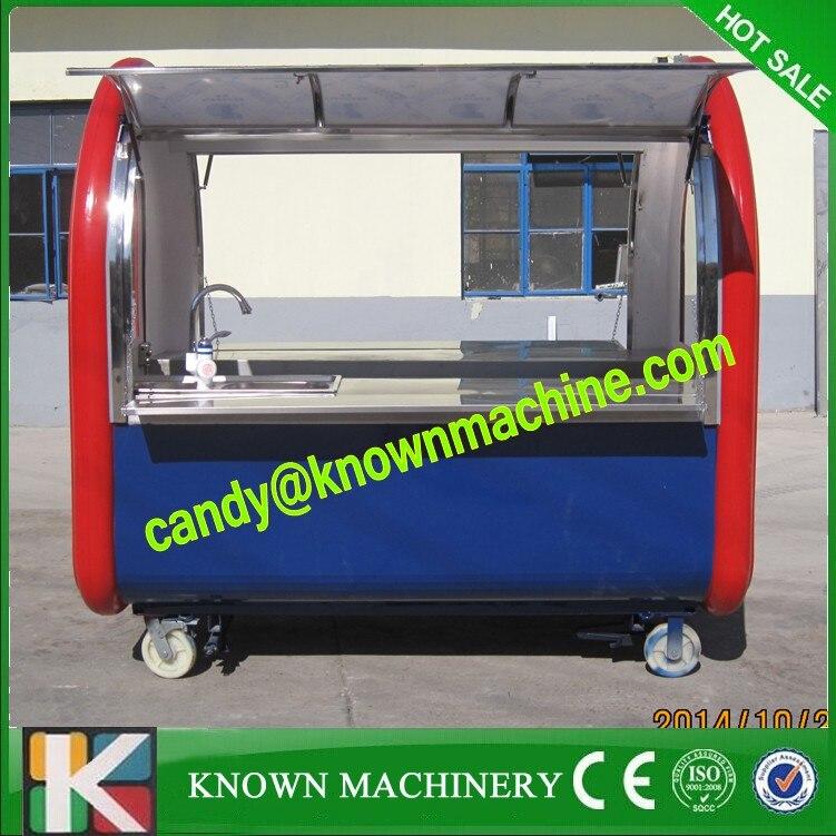 ⊹Cerrado remolque móvil de alimentos helado van móvil carrito de ...