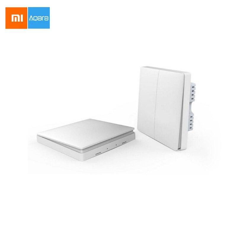 imágenes para Nueva llegada xiaomi aqara zigbee inalámbrica clave y de interruptor de pared de control de luz inteligente vía smarphone mi casa app remoto