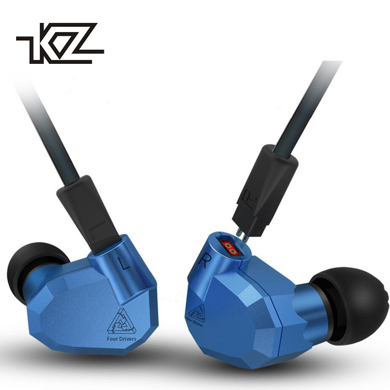 KZ ZS5 Heavy Bass Stereo Headphone Music Earbuds 2DD+2BA Eight Units Dynamic and Balanced Armatures Hybrid Earphone for Xiaomi kz zs5 hybrid dynamic and balanced