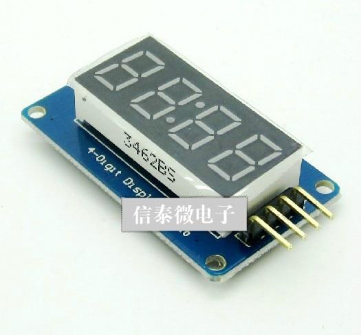 Интеллигентая(ый) Электронные 4 биты цифровая трубка дисплей модуль с дисплеем часов tm1637 для arduino raspberry pi