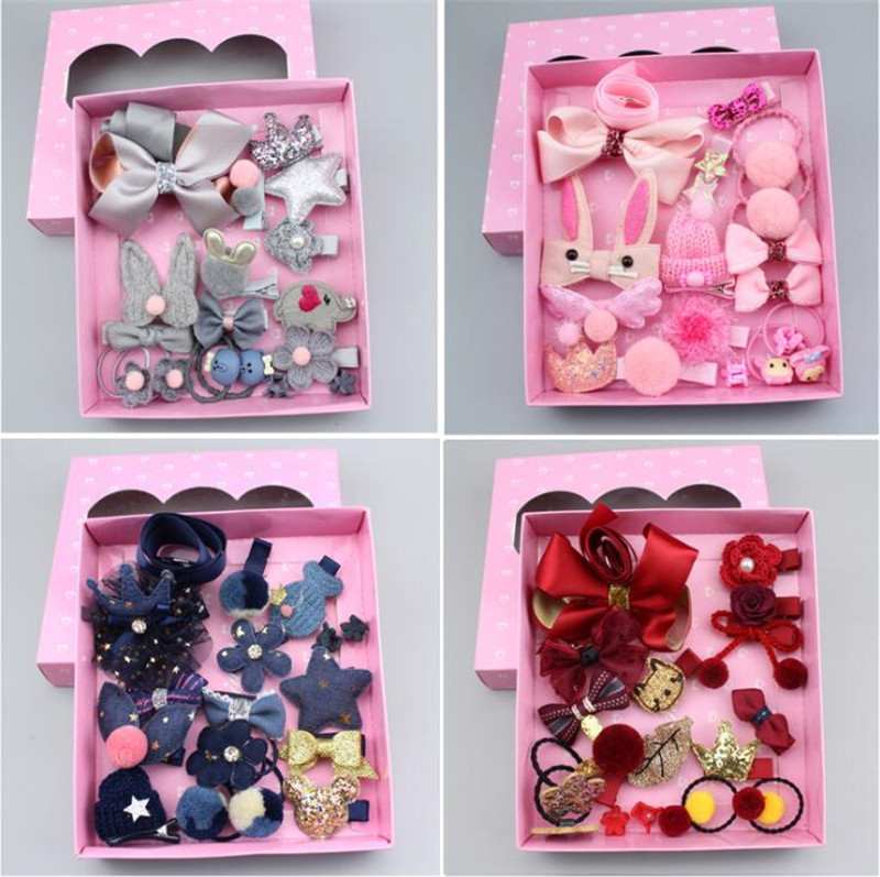1 Set Gift Kids Princess Hair Clips Barrette Hairpins Accessories For Girls Children Hair Bows Bands Hairclip Headwear Headdress