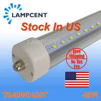 25Pcs/Pack Free Shipping T8 LED Tube 8FT 40W FA8 Single Pin Light Bulb Replace Fluorescent Stock In US No TAX