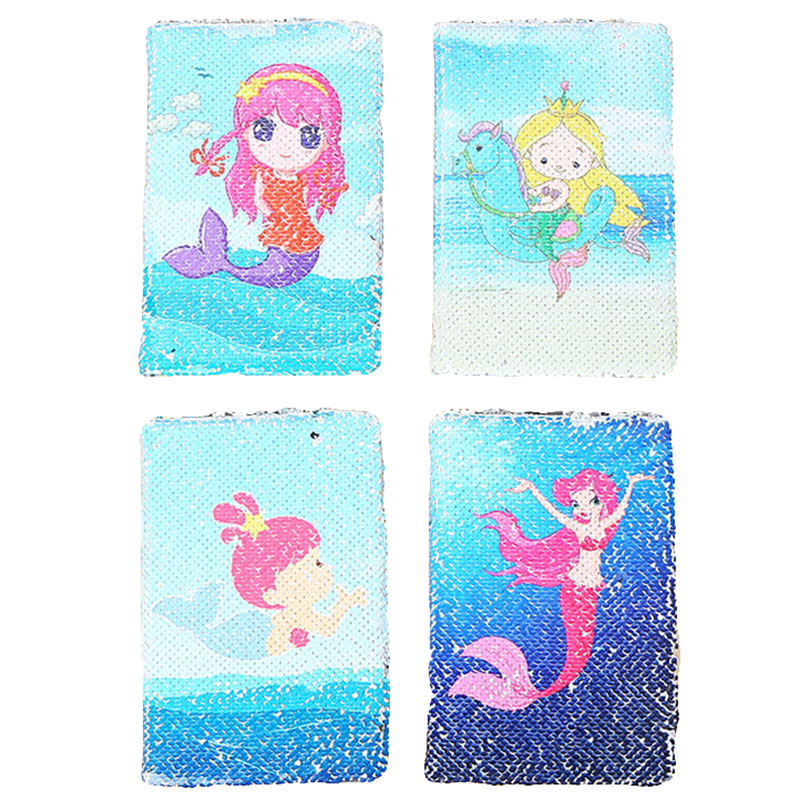Creative Cartoon Mermaid Notebook 78 Sheets Fashion Office Supplies Notepad Daily Memos Sequins Hardcover Business Notebook vintage creative the twilight saga breaking dawn notebook with magnetic snap fashion trend retro hardcover notepad memos
