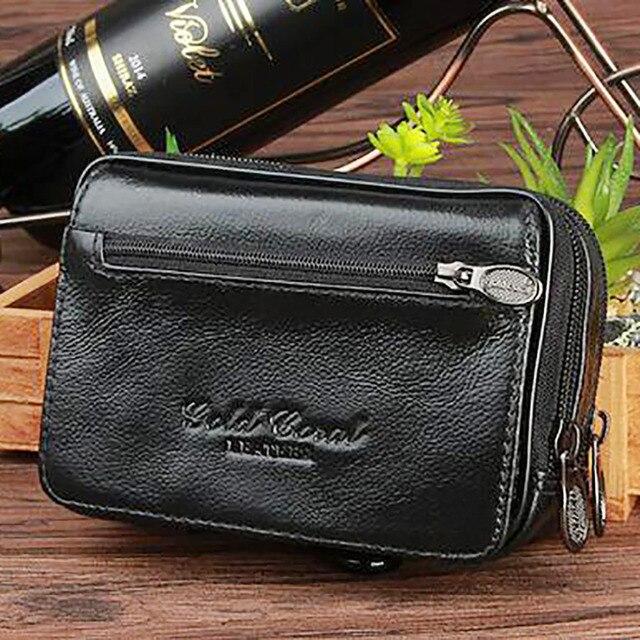d8c9948e41 Genuine Leather Men Clutch Money Bag Small Designer Organizer Wallet Cell  Phone Case Card Holder Waist