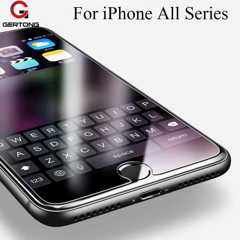 GerTong 2.5D 9H Tempered Glass For iPhone 4 4S 5 5S 5C SE 6 6S 7 Plus For iPod 4 5 6 Screen Protector Cover Toughened Guard Film