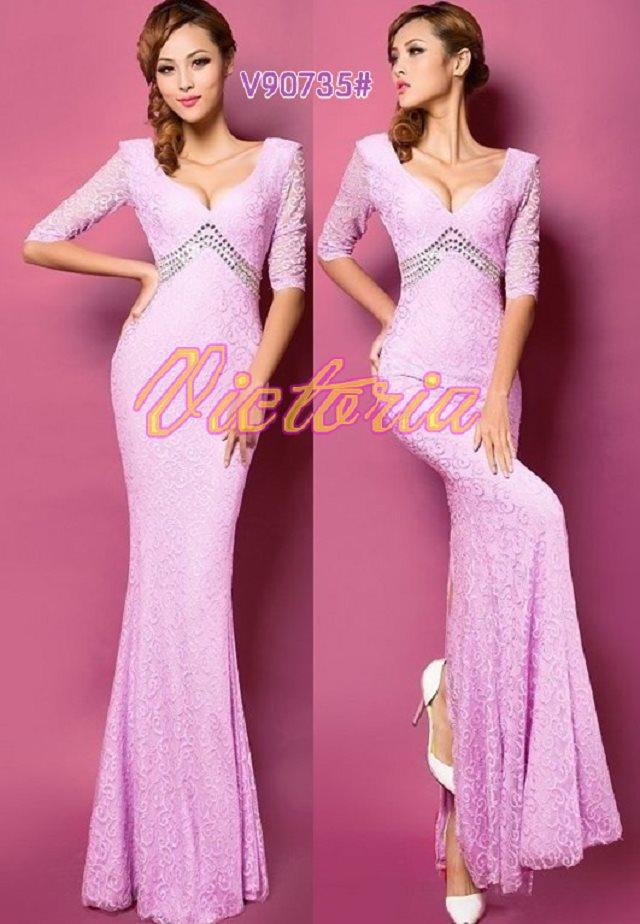v-образным вырезом платье с поясом длинное вечернее платье халат de soiree Abiti да сывороток vestido de festa longo com H0296 - Цвет: Purple