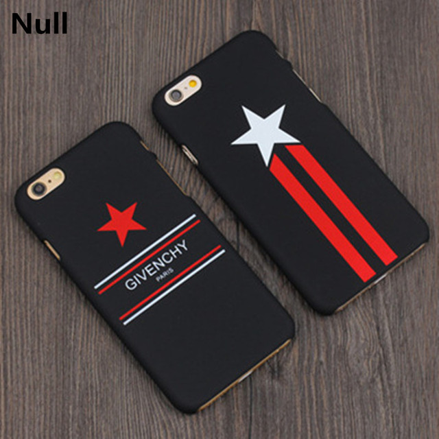 87510e96570 Ultra-thin Black Fashion Compact Red Star Mobile Phone Protection PC Hard  Cover Case For iPhone 5s 6 6s 6s Plus 7 7 Plus Coque